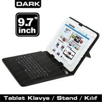 Dark 9.7'' Micro Usb+USB Klavyeli Deri Siyah Tablet Kılıfı (DK-AC-TBKB971)