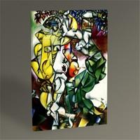 Tablo 360 Marc Chagall Adam And Eve Tablo 45X30