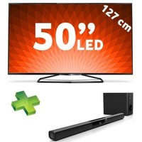 "Philips 50PUK6809 50"" 400Hz Uydu Alıcılı Wi-Fi 3D SMART [4K] ULTRA HD LED TV + Philips HTL2163B Soundbar Ses Sistemi"