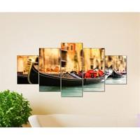 Tabloshop - Kp-15 5 Parçalı Canvas Tablo - 123X56cm