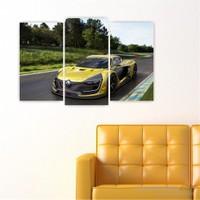 Dekoriza Renault Spor Araba 3 Parçalı Kanvas Tablo 80X50cm