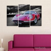Dekoriza Porshe Klasik Araba 3 Parçalı Kanvas Tablo 80X50cm