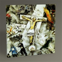 Tablo 360 Marc Chagall White Crucifixion Tablo 30X30