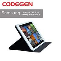 """Codegen CKL-079B Samsung Galaxy Tab 8"""" Siyah Silikon Kılıf"""