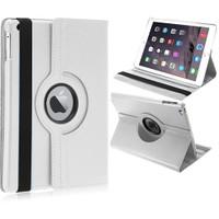 Mobile World iPad 2/3/4 360 Derece Dönebilen Beyaz Tablet Kılıfı Seti