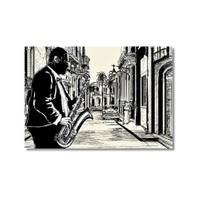 Tictac Jazz 3 Kanvas Tablo - 60X90 Cm