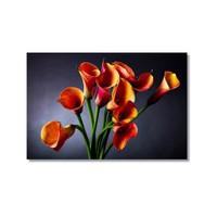 Tictac Dekoratif Çiçekler 3 Kanvas Tablo - 40X60 Cm