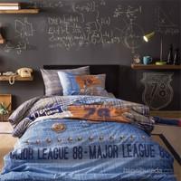 Taç Tek Kişilik Nevresim Takımı - Jeans Mavi