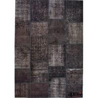Patchwork El Halısı 160x230 Siyah