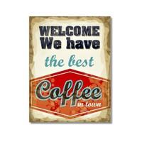 Tictac Coffee 4 Kanvas Tablo - 50X75 Cm