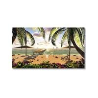 Tictac Sahildeki İskele Kanvas Tablo - 60X90 Cm