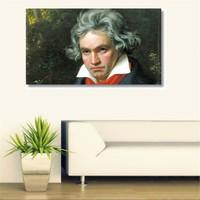 Tictac Beethoven Kanvas Tablo - 60X90 Cm