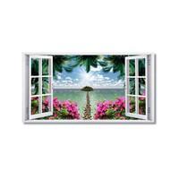 Tictac Uzun Pencere Kanvas Tablo - 40X60 Cm
