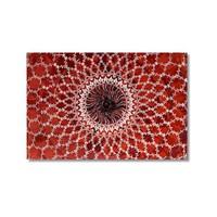 Tictac Kırmızı Çatı Kanvas Tablo - 40X60 Cm