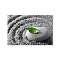 Tictac Taş Ve Yaprak Kanvas Tablo - 50X75 Cm