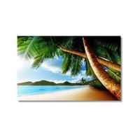 Tictac Sahildeki Ağaçlar Kanvas Tablo - 60X90 Cm