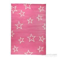 Poypoy Pink Star Çocuk Halısı 120X180 Cm