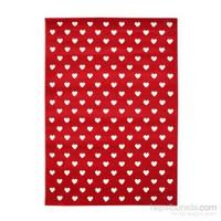 Poypoy Kalp Yağmuru Çocuk Halısı 100x150 cm