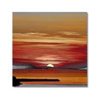 Tictac Günbatımı Kanvas Tablo - 60X60 Cm