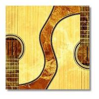 Tictac Gitarlar Kanvas Tablo - 60X60 Cm