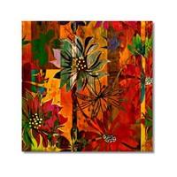Tictac Renkli Çiçekler 2 Kanvas Tablo - 60X60 Cm