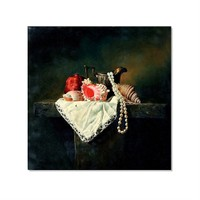 Tictac Naturmort 2 Kanvas Tablo - 50X50 Cm