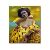 Tictac Sarı Kıyafetli Kaıdn Kanvas Tablo - 60X60 Cm