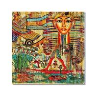 Tictac Mısır Sembolleri 2 Kanvas Tablo - 50X50 Cm