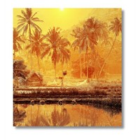 Tictac Afrika Kanvas Tablo - 50X50 Cm - 50X50 Cm