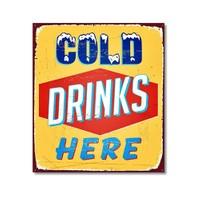 Tictac Cold Drinks Here Kanvas Tablo - 50X50 Cm