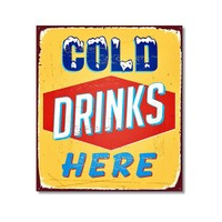 Tictac Cold Drinks Here Kanvas Tablo - 70X70 Cm