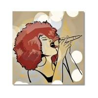 Tictac Jazz Solist Kanvas Tablo - 70X70 Cm