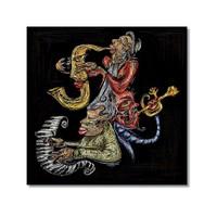 Tictac Jazz Müzisyenleri 3 Kanvas Tablo - 70X70 Cm