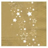 Pandoli Kağıt Parti Peçetesi Altın Renk Yıldızlı 33 Cm 20 Adet
