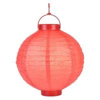 Pandoli 25 Cm Led Işıklı Kağıt Japon Feneri Kırmızı Renk