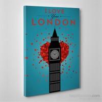 Tabloshop Love London Kanvas Tablo