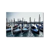 Tictac Venedik Gondolları 4 Kanvas Tablo - 50X75 Cm