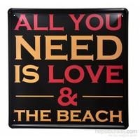 Decotown The Beach Metal Levha 30*30-7977