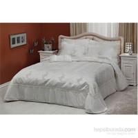 Taç Penny Çift Kişilik Polyester Beyaz Yatak Örtüsü