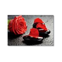 Tictac Kırmızı Yapraklar Kanvas Tablo - 40X60 Cm