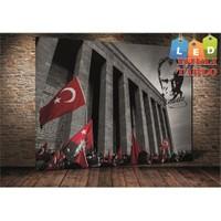 Tablo İstanbul Anıtkabir Atatürk Led Işıklı Kanvas Tablo