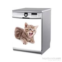 Artikel Esneyen Kedi Bulaşık Makinası Stickerı Bs-165