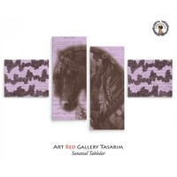 Artred Gallery Apaçi At 4 Parça 114X63 Tablo