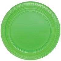 Pandoli Yeşil Renk 22 Cm Plastik Parti Tabağı 25 Adet