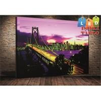 Tablo İstanbul Manhattan Led Işıklı Kanvas Tablo 45*65 Cm