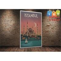 Tablo İstanbul İstanbul Sultanahmet Vektör Led Işıklı Kanvas Tablo