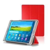Microsonic Samsung Galaxy Tabs T700 Smart Case Ve Arka Kılıf Kırmızı