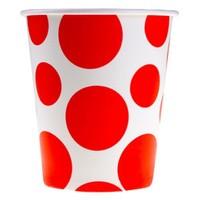 Pandoli Kırmızı Beyaz Puantiyeli 180 Ml Karton Parti Bardağı 8 Adet