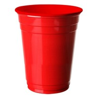Pandoli 8 Adet Plastik Kırmızı Renk Meşrubat Parti Bardağı 266 Ml
