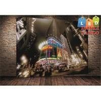 Tablo İstanbul Times Square Led Işıklı Kanvas Tablo 45 X 65 Cm